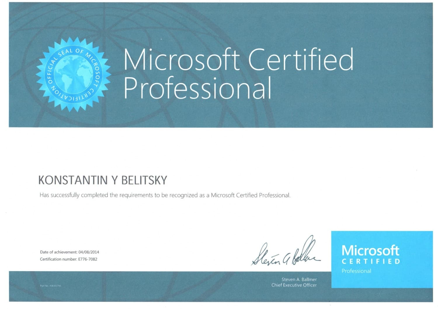 Microsoft Certified Professional